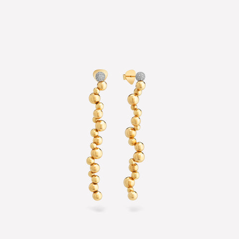 marinab.com, Mini Atomo Pavé Long Drop Earrings