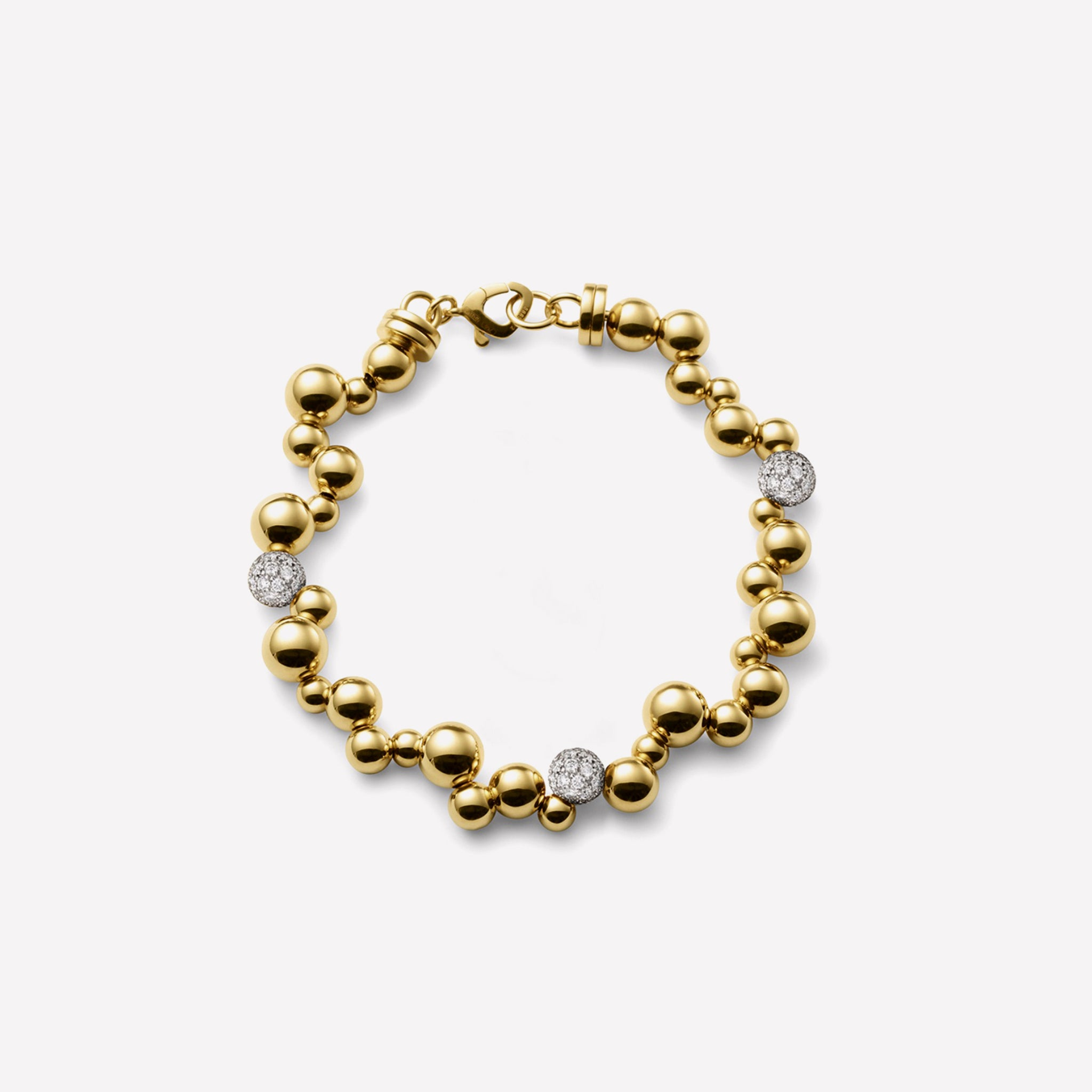 marinab.com, Mini Atomo Pavé Diamond Bracelet