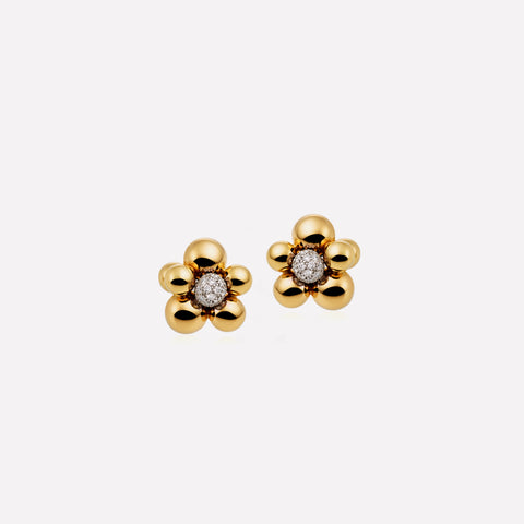 marinab.com, Mini Atomo Pavé Diamond Earrings