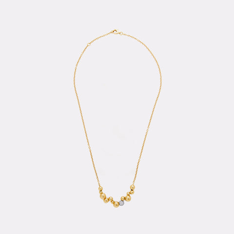 marinab.com, Mini Atomo Pavé Diamond on Chain Necklace