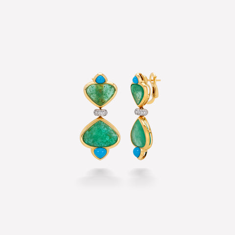 marinab.com, Muzo Emerald One of a Kind Mirta Earrings