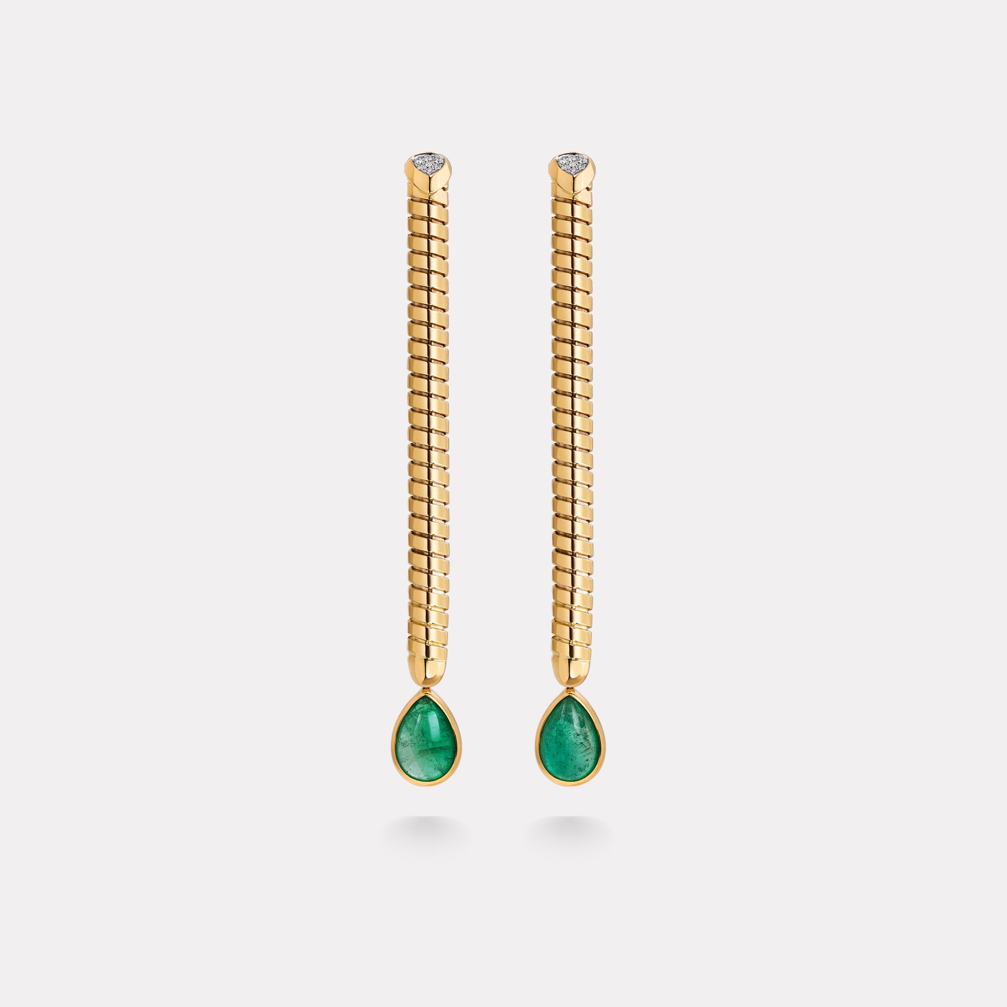 marinab.com, Trisolina Muzo Emerald One of a Kind Drop Earrings