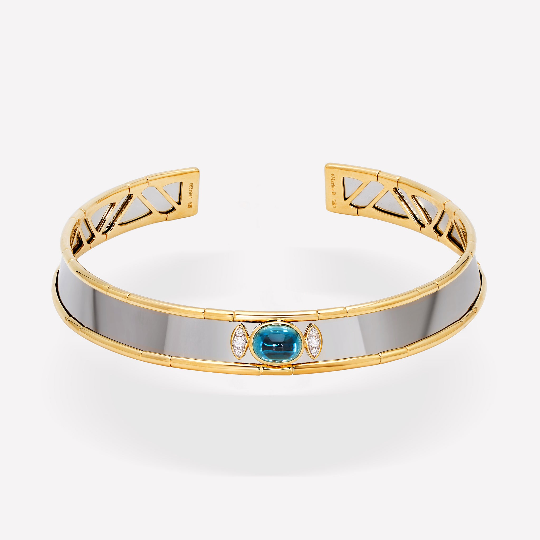 marinab.com, Simona Natural Blue Zircon Collar