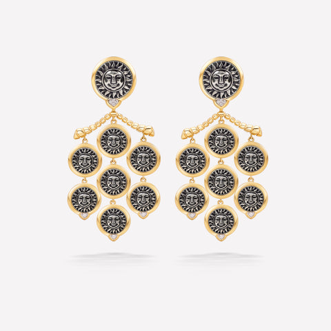 marinab.com, Soleil Chandelier Earrings
