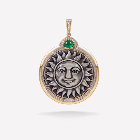 marinab.com, Soleil Limited Edition Muzo Emerald Large Pendant