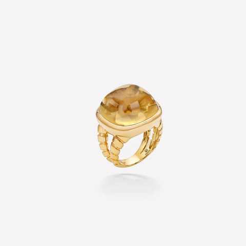 marinab.com, Tigella Champagne Quartz Ring