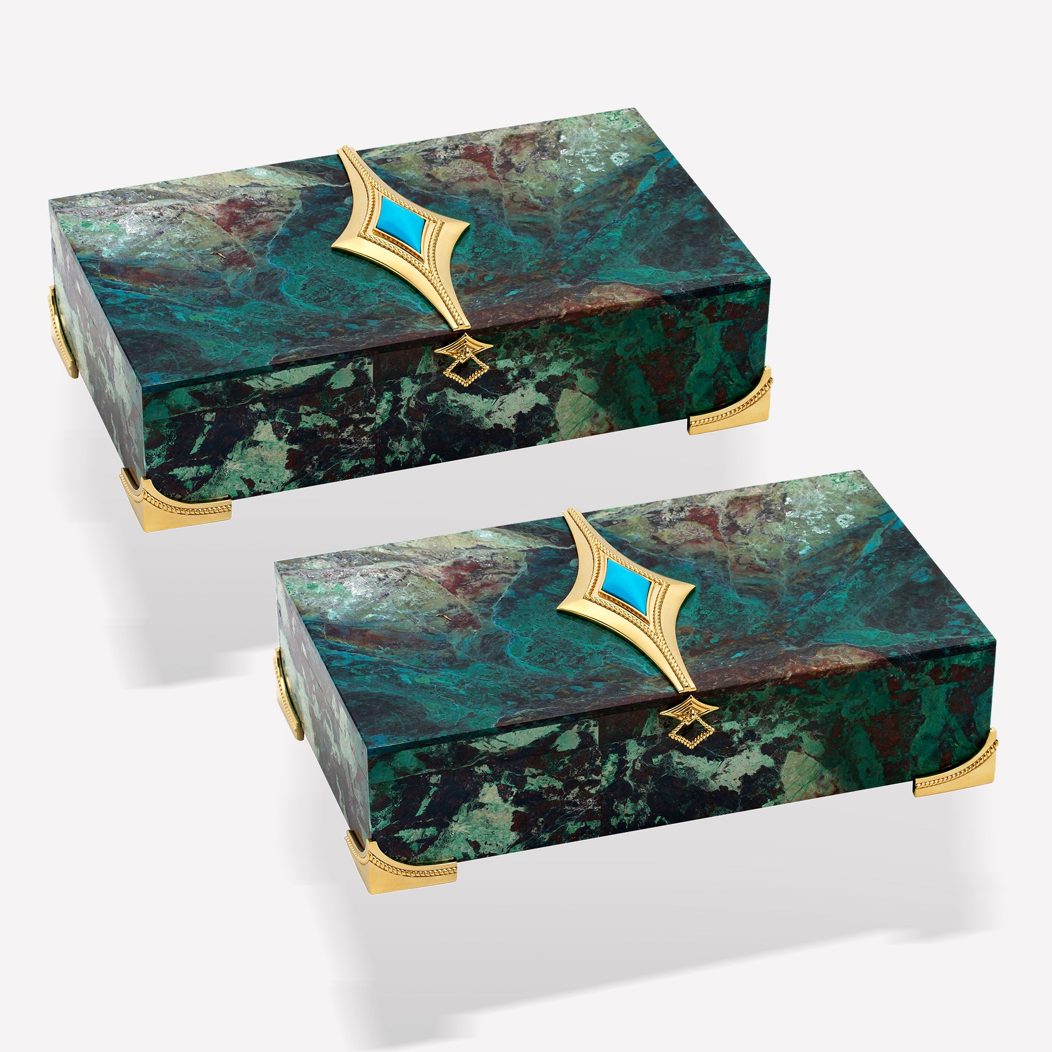 marinab.com, Twins Set Chrysocolla boxes