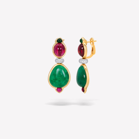marinab.com, Muzo Emerald One of a Kind Gaja Earrings