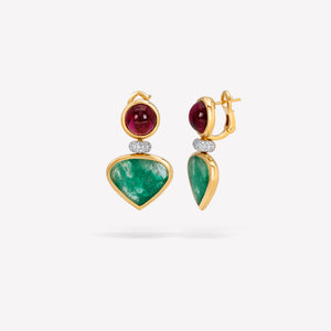 marinab.com, Muzo Emerald One of a Kind Fadia Earrings