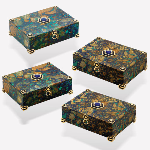 marinab.com, Four Set Azurite Boxes