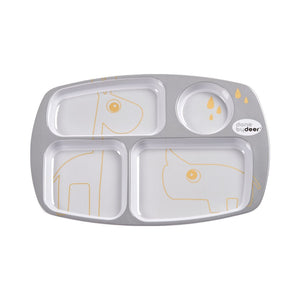 Compartment Plate Contour Grey-Dinnerware-Done By Deer-Little Soldiers
