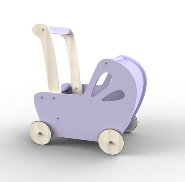 Line Dolls Pram - Purple-Toys-Moover Toys-Little Soldiers