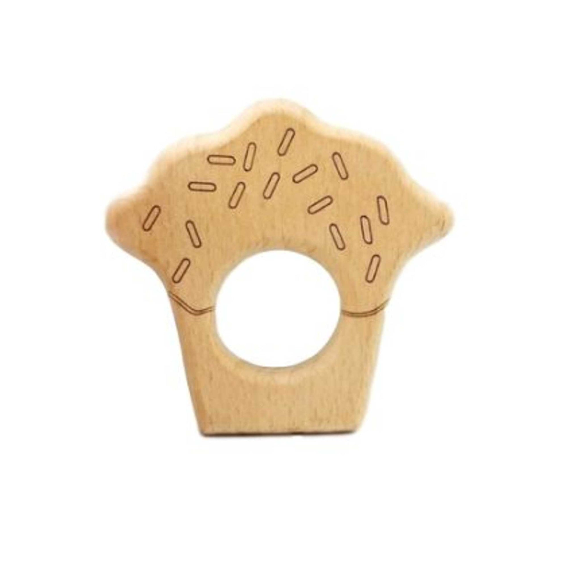 PONCHIK Wooden Teether - Cupcake-Ponchik Kids-Little Soldiers