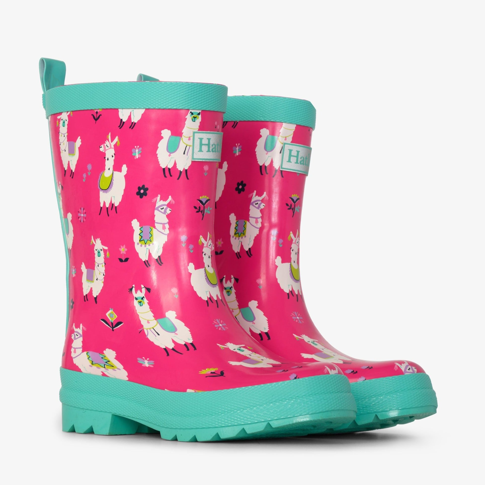 Pretty Alpacas Shiny Rain Boots-Shoes-Hatley-4-Little Soldiers