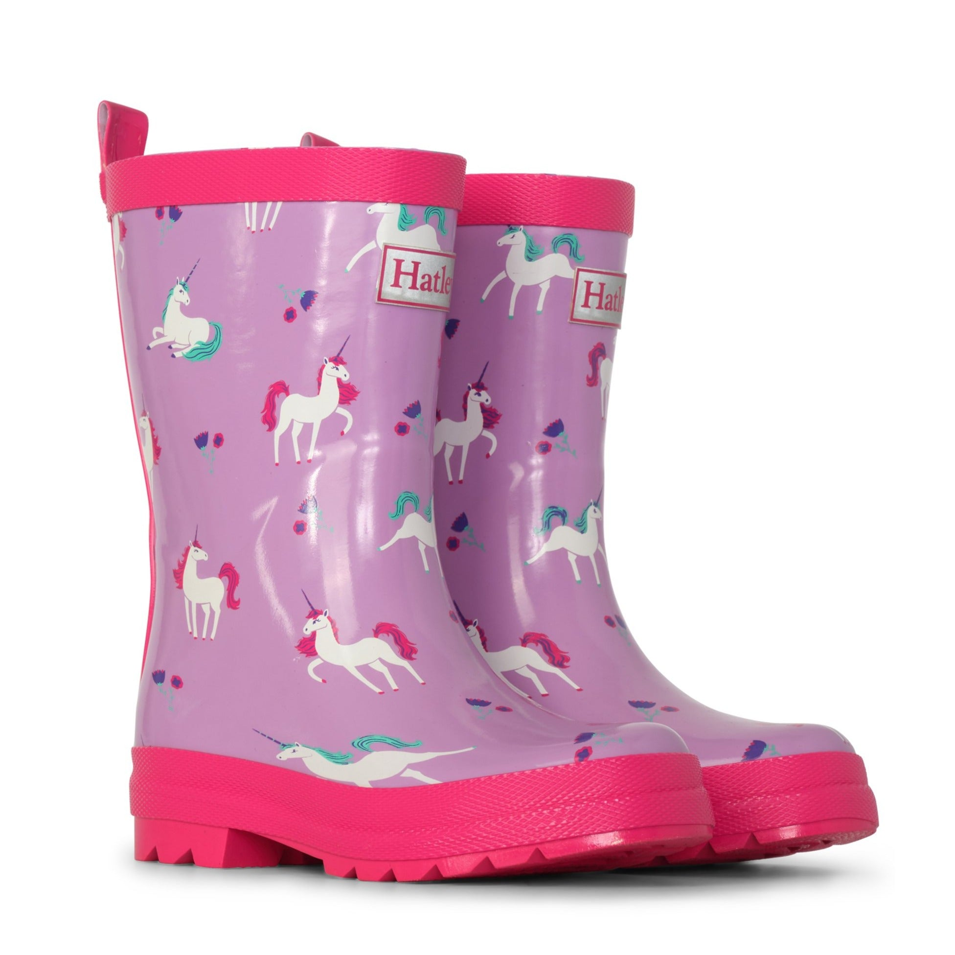 Playful Unicorns Shiny Rain Boots-Shoes-Hatley-4-Little Soldiers