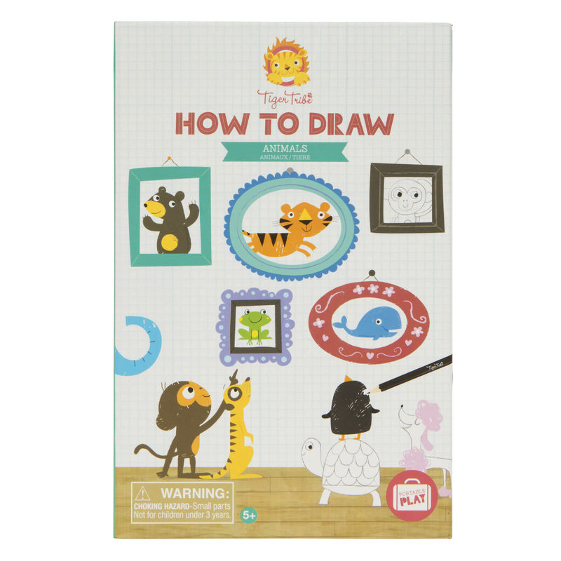 How to Draw - Animals-Toys-Tiger Tribe-Little Soldiers