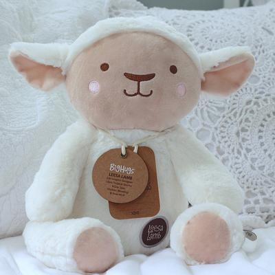 Animal Plush Toy - Lee Lamb White & Brown-Soft Toys-O.B Designs-Little Soldiers