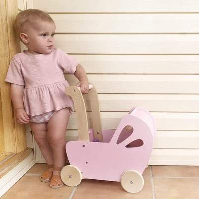 Line Dolls Pram - Pink-Toys-Moover Toys-Little Soldiers