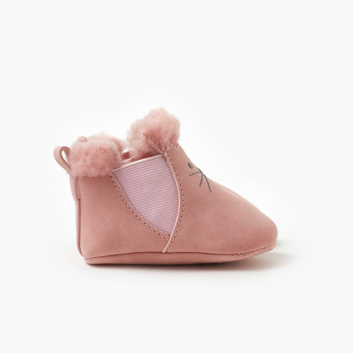 Tulip Bootie - Pale Pink-Shoes-Walnut-17-Little Soldiers