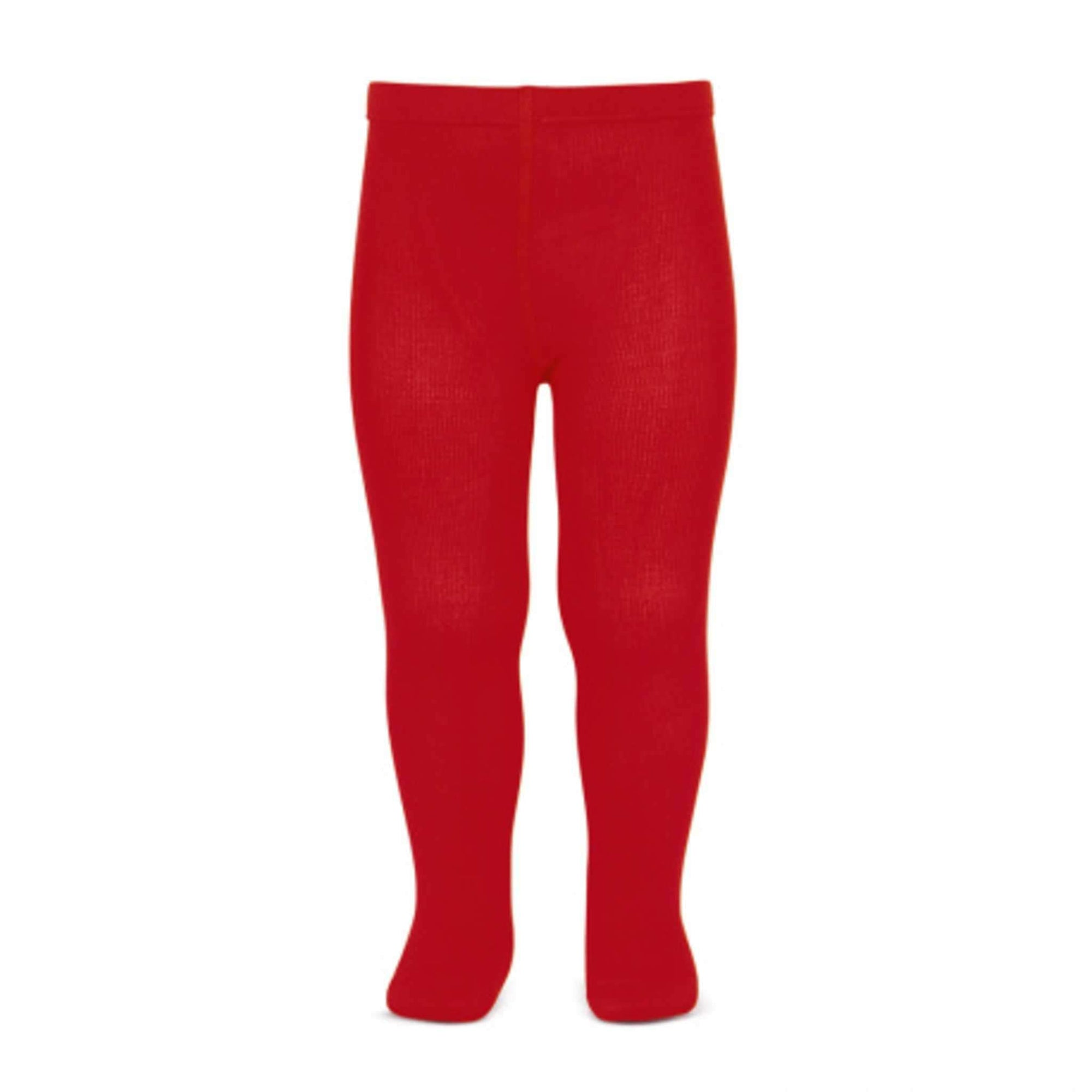 Basic Plain Tights Red-Accessories-Condor Barcelona-000-Little Soldiers