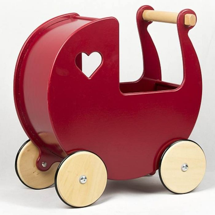 Dolls Pram - Red-Toys-Moover Toys-Little Soldiers