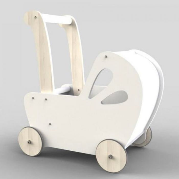 Line Dolls Pram - White-Toys-Moover Toys-Little Soldiers