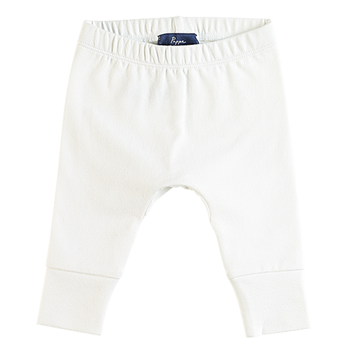 Joy Stretchy Legging - White-bottoms-Pappe-0000-Little Soldiers