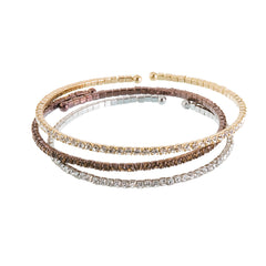 Crystal Sliver of Sparkle Wrap Bangle