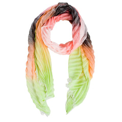 Chevron Neon Pleat Scarf