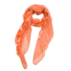 Chevron Mix Scarf--Orange