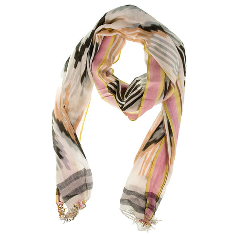 Mojave Scarf -Black/Yellow/Pink