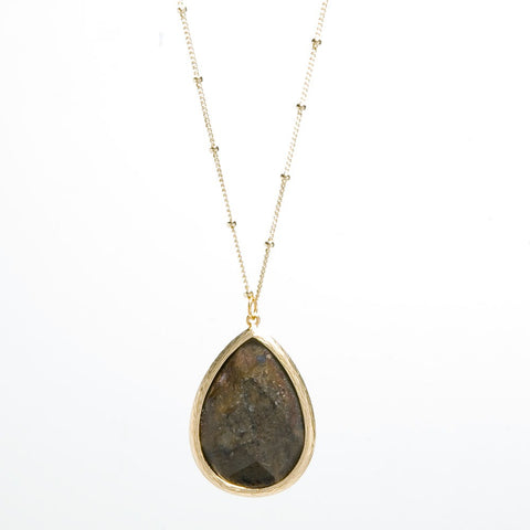 Set in Stone Necklace - Tiger's Eye