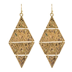 Pyramid Tribal Drop Earrings