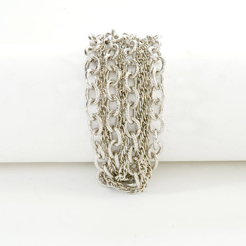 Twisted Multi-Chain Silver Bracelet