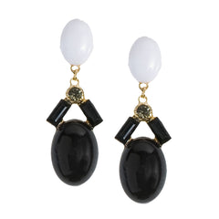 Black & White Drop Earrings