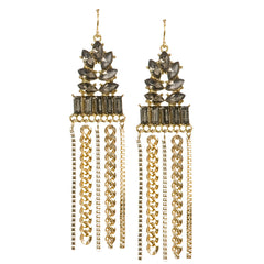 Crystal and Chain Cascade Earrings