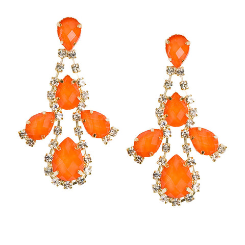 Rocks and Drops Earrings-Orange