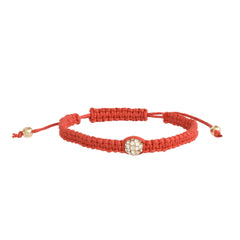 Crystal Ball Bracelet-Red