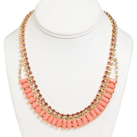 Fancy Flawless Necklace-Coral/Pink