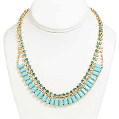 Fancy Flawless Necklace-Mint/ Turquoise