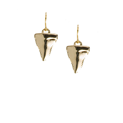 Shark Attack Earrings-Gold
