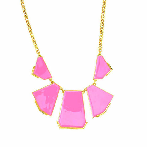 Anglo-Bright Necklace--Neon Pink