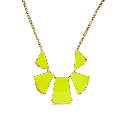 Anglo-Bright Necklace--Neon Yellow