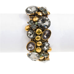 Crystal Rock 'n Shine Bracelet--Antiqued