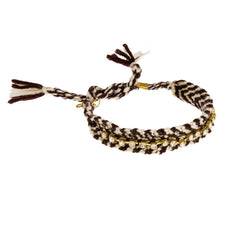 Frankie Rae Friendship Bracelet--Brown/White