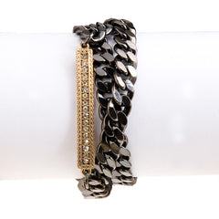Chain Reaction Wrap Bracelet--Hematite