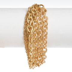 Twisted Multi-Chain Gold Bracelet