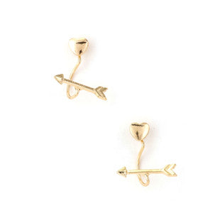 Up Front Love Earring-Gold