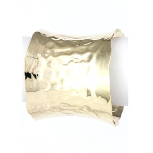 Hammered Cuff-Gold