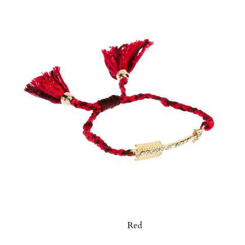 On Target Friendship Bracelet-Red